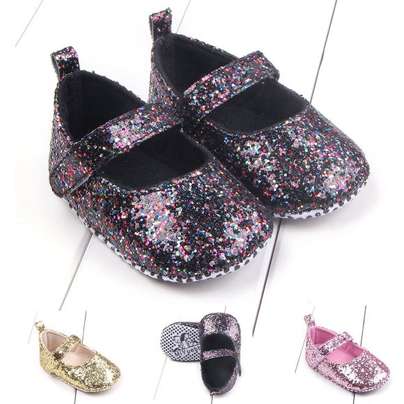 #New_Cute_Princess Baby Shining Shoes For Girls