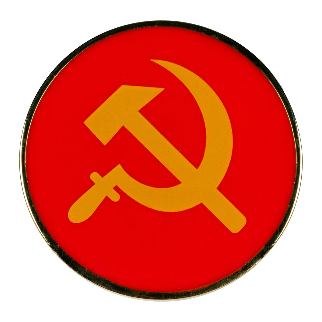 Communist Hammer Sickle Enamel Pin