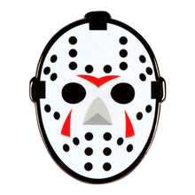 Load image into Gallery viewer, Friday the 13th Hockey Mask Enamel Pin