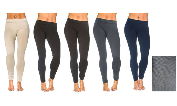 Fleece Lined Leggings (6 Pack)