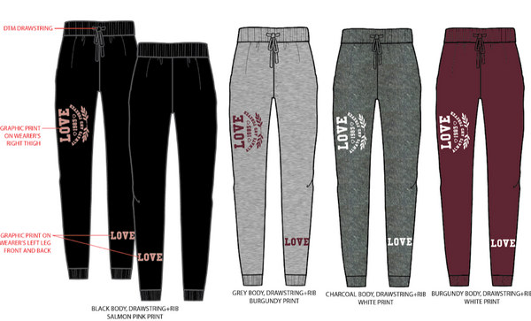 152 Love Jogger Set (6 Sets)