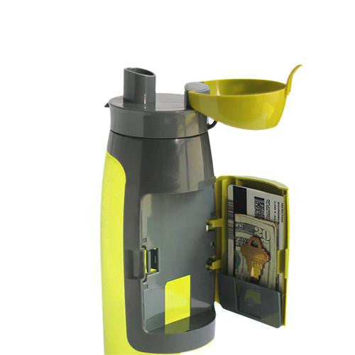 Gym Water Bottle With Storage Compartment
