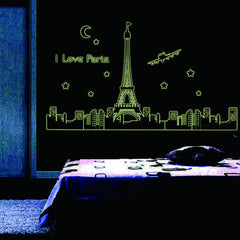 I love Paris Sticker brillant la nuit