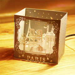 Carte postale laser 3D Paris
