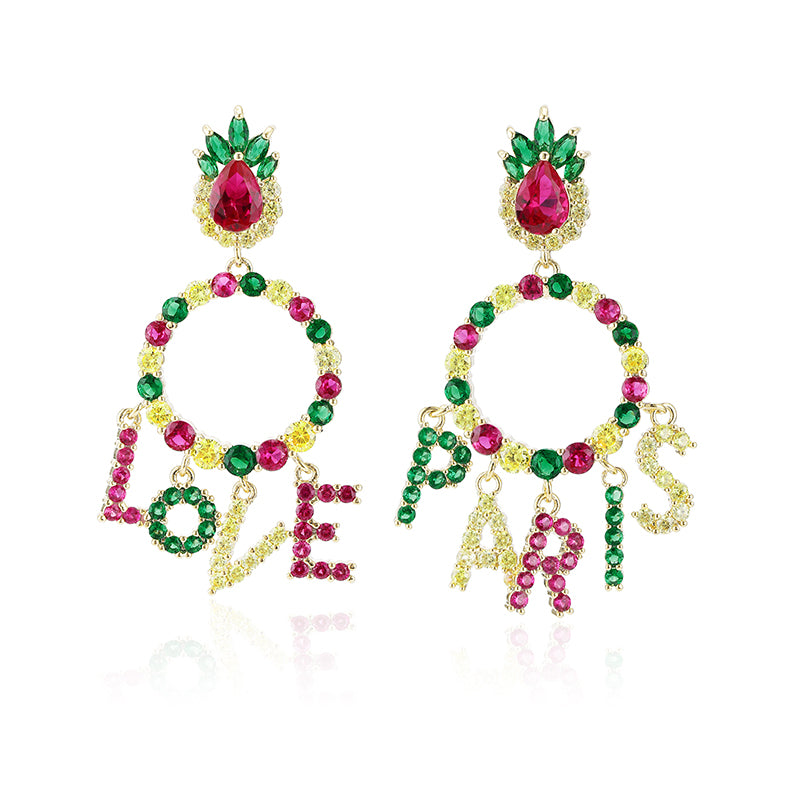 Boucles d'oreilles fantaisies LOVE PARIS