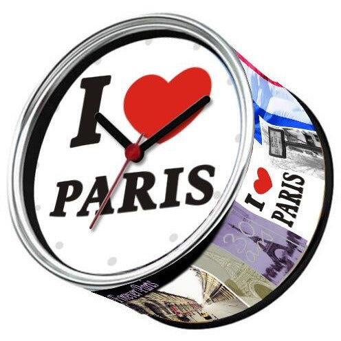 Mini Horloge aimant originale I Love Paris