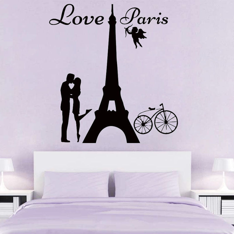 "Sticker love paris ""Baiser"""