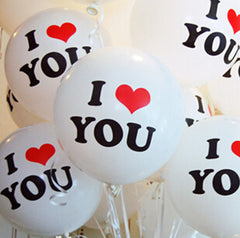 "250 pièces ballons en latex ""i love you"""