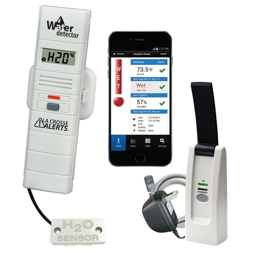 La Crosse Alerts Remote Temperature and Humidity Monitoring System with Water Leak Detector