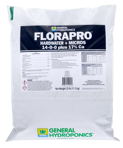 General Hydroponics® FloraPro™ Hardwater + Micros Soluble 14 - 0 - 0 + 17% Ca