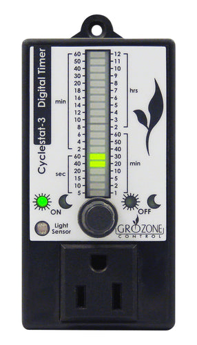 Grozone Control CY3 Digital Cyclestat with Day/Night Sensor and Bar Graph Display