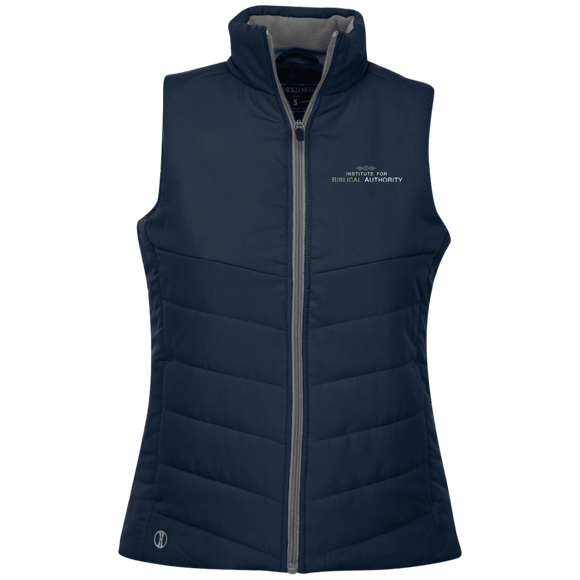 Limited Edition Embroidery IBA Ladies Quilted Vest
