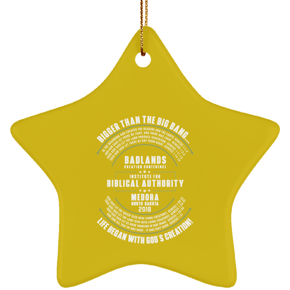 Limited Edition Gold IBA Star Ornament
