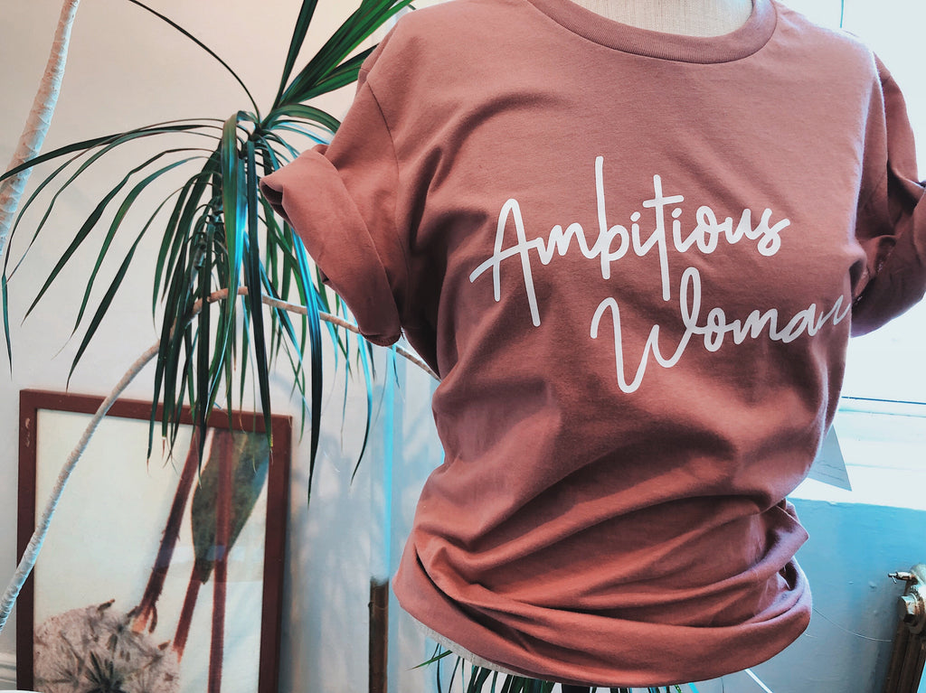All Products - AMBITIOUS WOMAN Boyfriend Tee