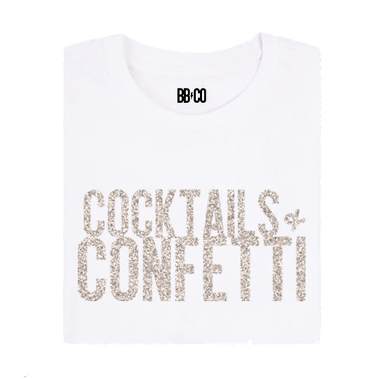 All Products - COCKTAILS & CONFETTI Holiday Tee