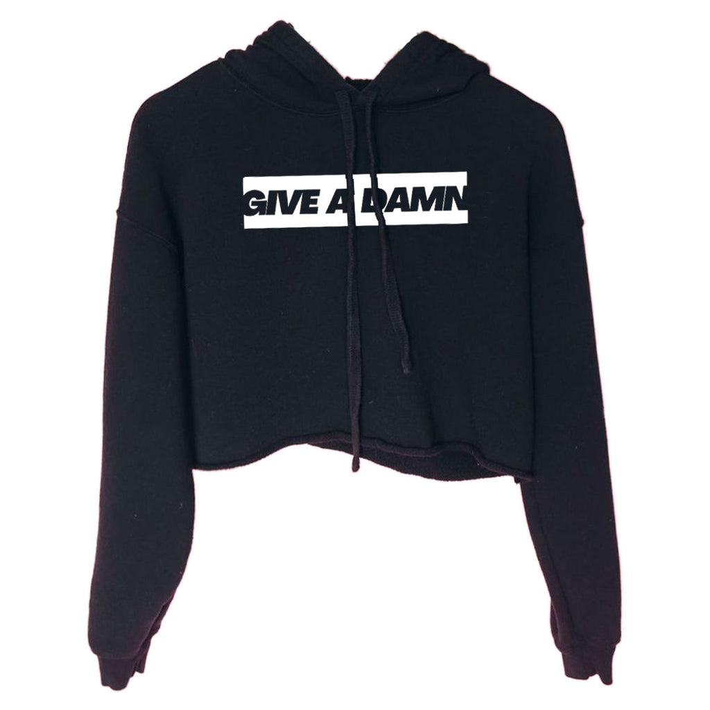 All Products - GIVE A DAMN Cropped Sweatshirt