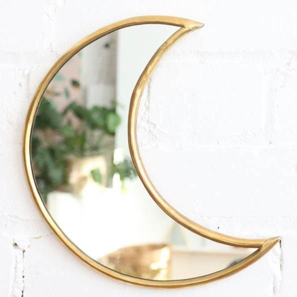 All Products - GOLD BRASS MOON Mirror