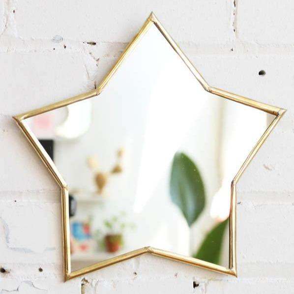 All Products - GOLD BRASS STAR Mirror