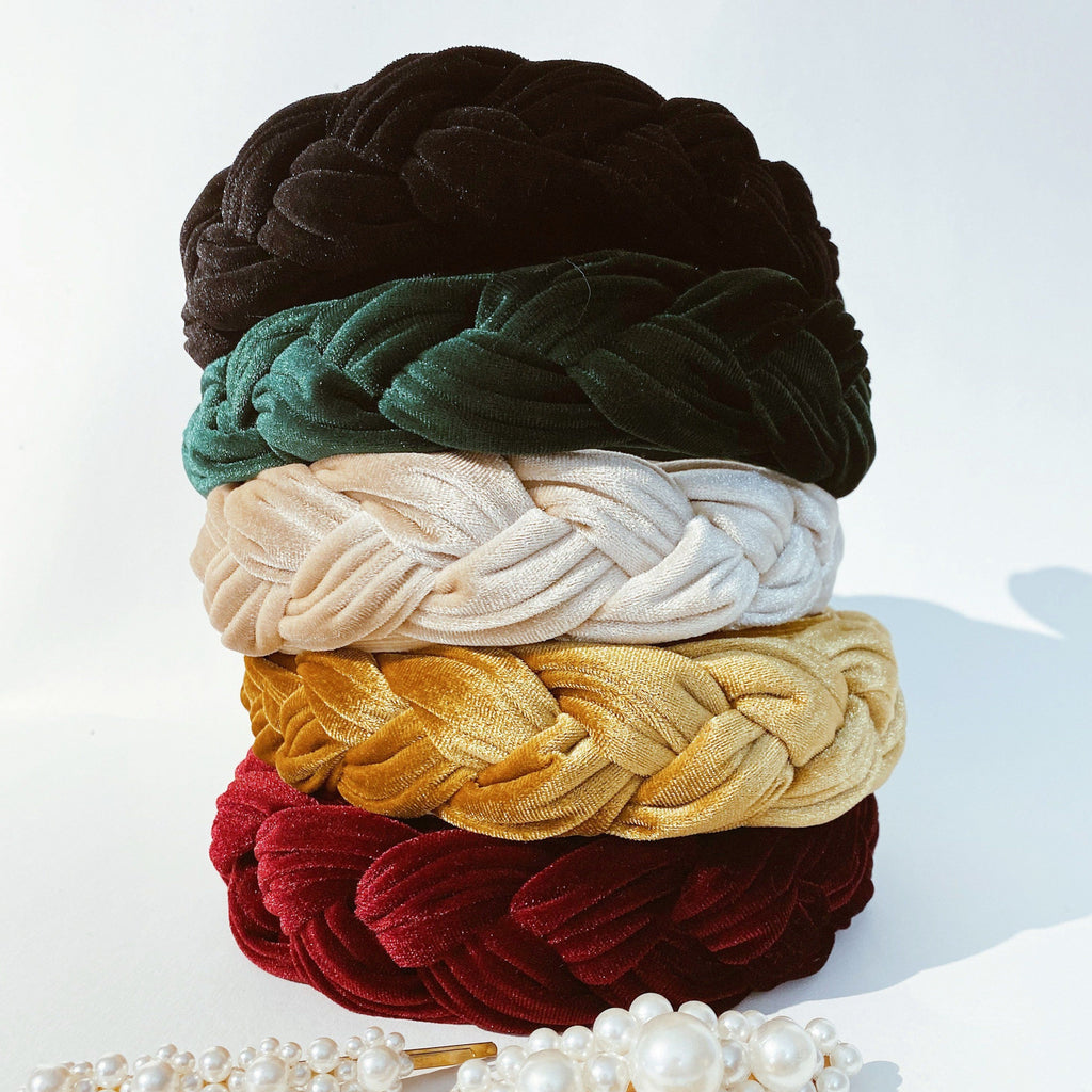 All Products - LUXE VELVET BRAIDED HEADBAND