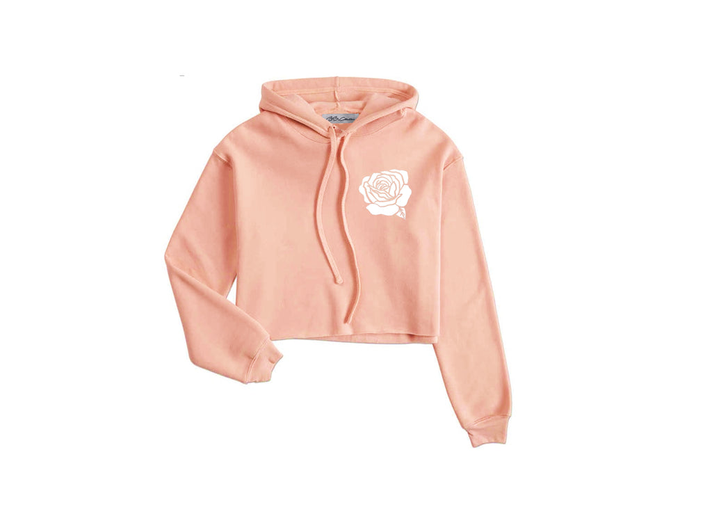 All Products - ROSE BUD Peach Cropped Hoodie