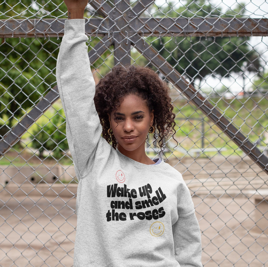 All Products - WAKE UP AND SMELL THE ROSES Crewneck