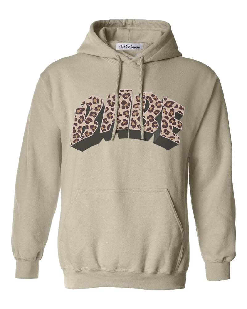 BABE Leopard Hooded Sweatshirt