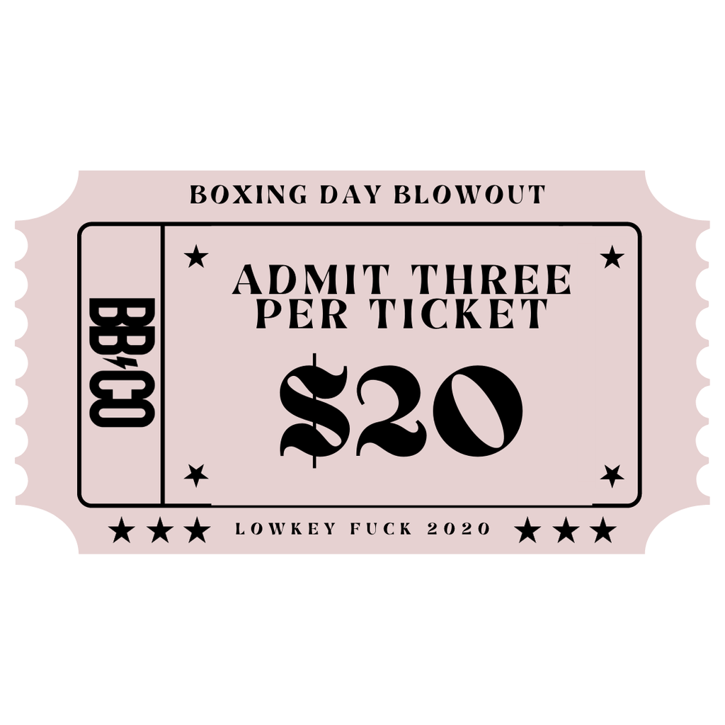 Boxing Day Blowout - BOXING DAY BLOWOUT TIMESLOT