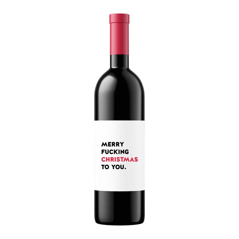 FESTIVE WINE LABEL
