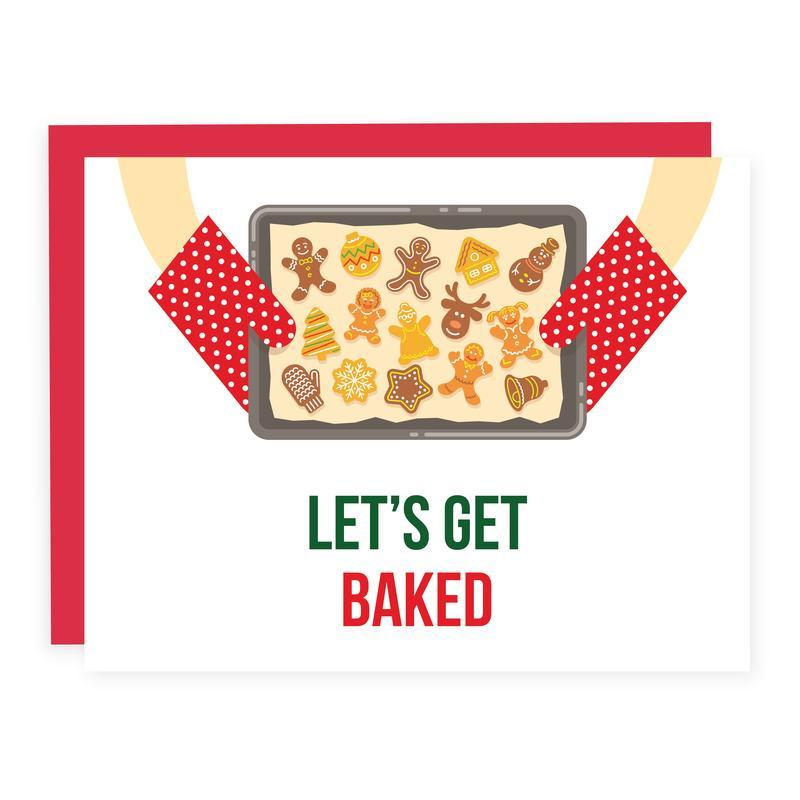 LET'S GET BAKED Holiday Card