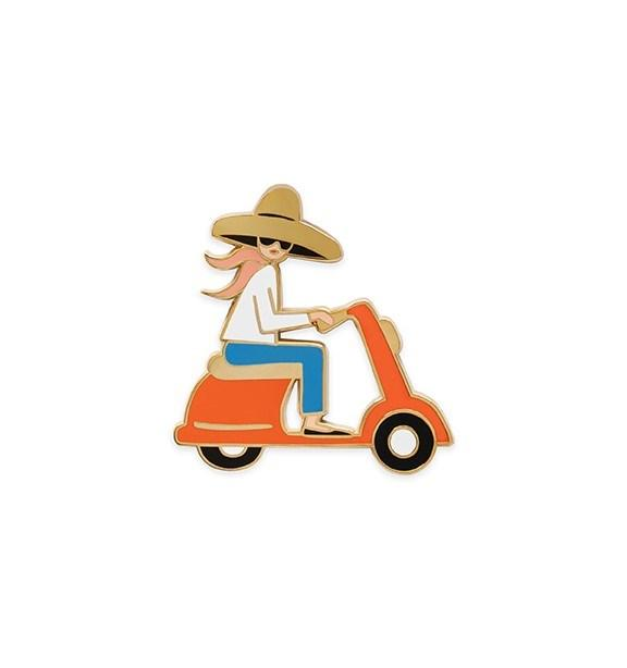 SCOOT SCOOT BABE Enamel Pin