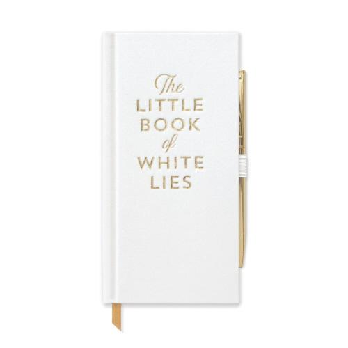 THE LITTLE BOOK OF WHITE LIES Skinny Journal With Pen