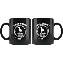 Load image into Gallery viewer, German Shepherd Circle of Trust Black 11oz Mug