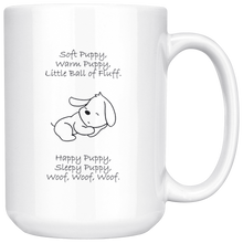 Load image into Gallery viewer, Soft Puppy, Warm Puppy White 15oz Mug