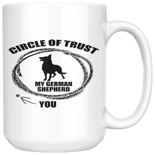 German Shepherd Circle of Trust 15oz Mug