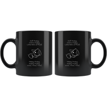 Load image into Gallery viewer, Soft Puppy, Warm Puppy Black 11oz Mug