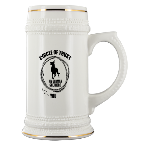German Shepherd Circle of Trust Beer Stein