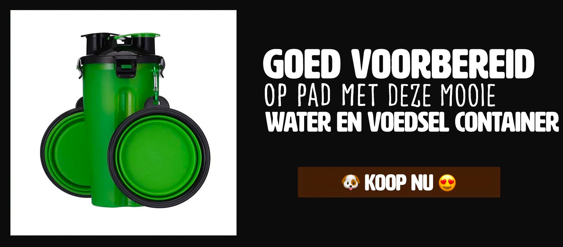 woef upsell voedsel water container honden
