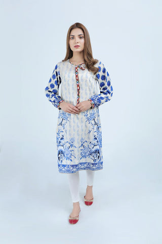 BLUE AND WHITE - Jacquard.pk