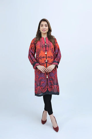 KRUNDY SHIRT / RED SPIRALS - Jacquard.pk