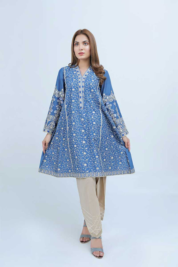 LAWN SHIRT / BLUE FALL - Jacquard.pk
