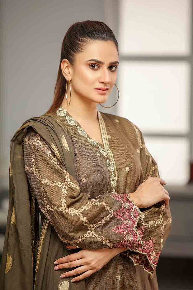 LAWN MASOORI / BROWN HARMANY - Jacquard.pk