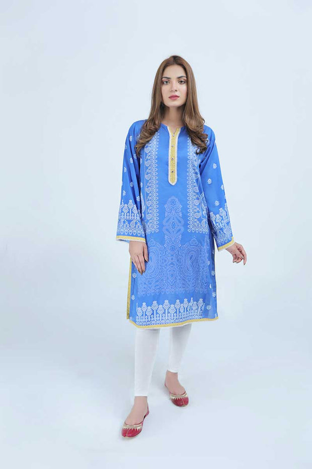 LAWN SHIRT / INK BLUE - Jacquard.pk