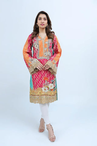DIGITAL JACQUARD / ORANGE FUNK-2 - Jacquard.pk