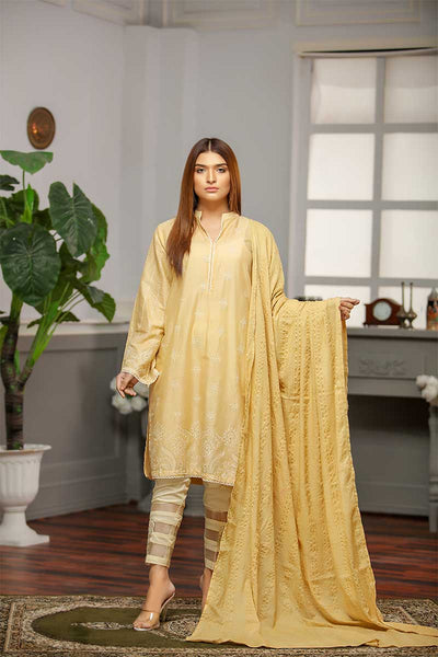 LAWN EMBROIDERED / CLASSICAL GRID - Jacquard.pk