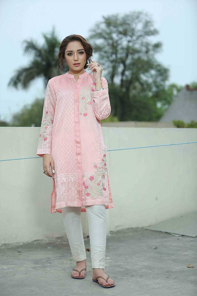 PEACH SHADOW - Jacquard.pk