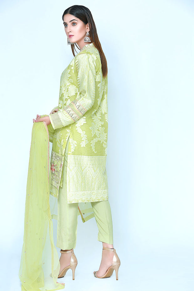 SOFT GREEN - Jacquard.pk