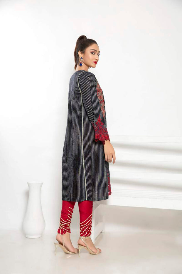 LAWN SHIRT / MID NIGHT BLISS - Jacquard.pk