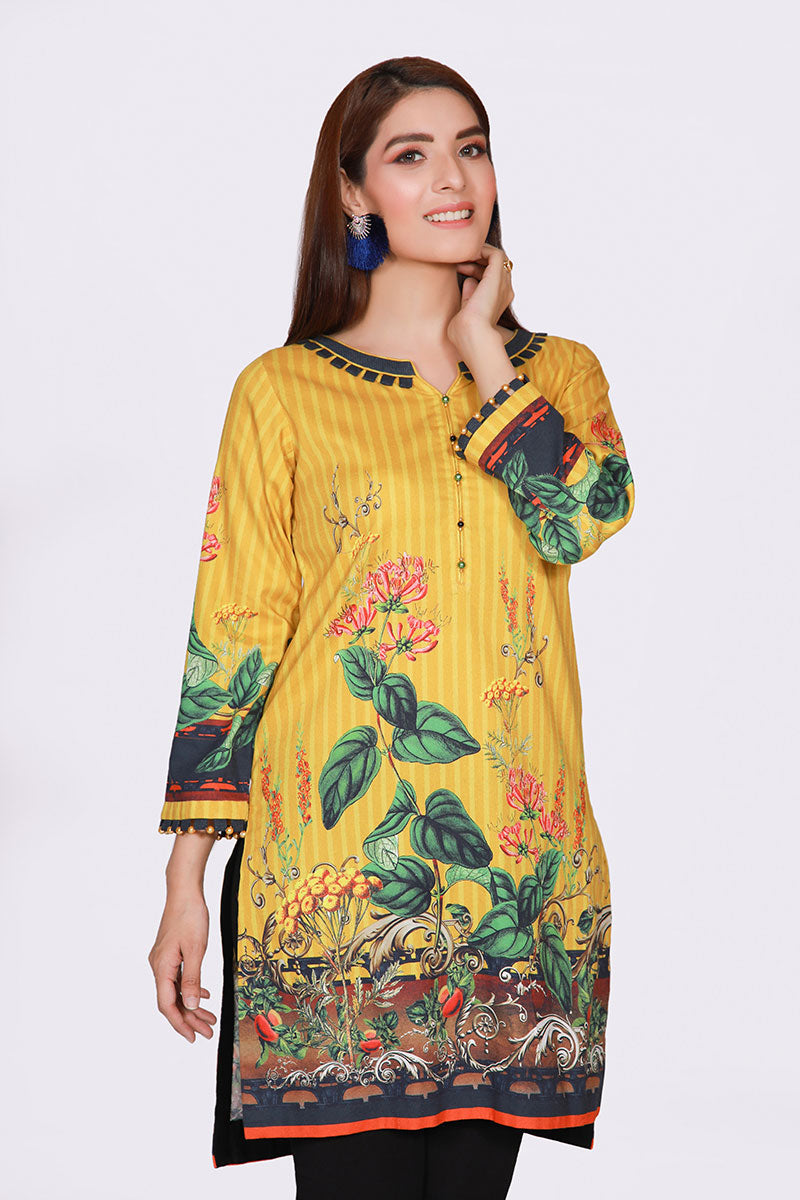 JBACD-626 - PESHAWAR Designer Dress, yellow shirt with ornaments and black pants