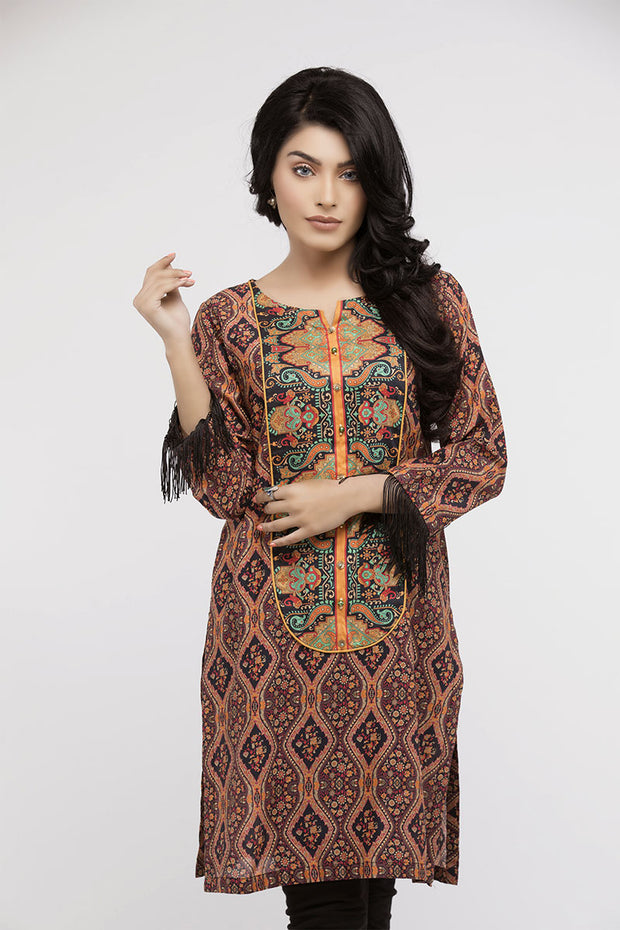 jbadl-697- Online Designer Dress FAISALABAD, Straight shirt with round split neck