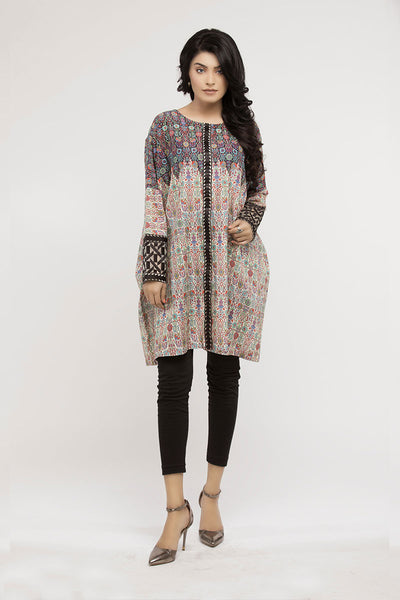 jbadl-717 - Luxury Digital Design Clothing Lahore, Digital printed shirt, box-cut shirt with round neck